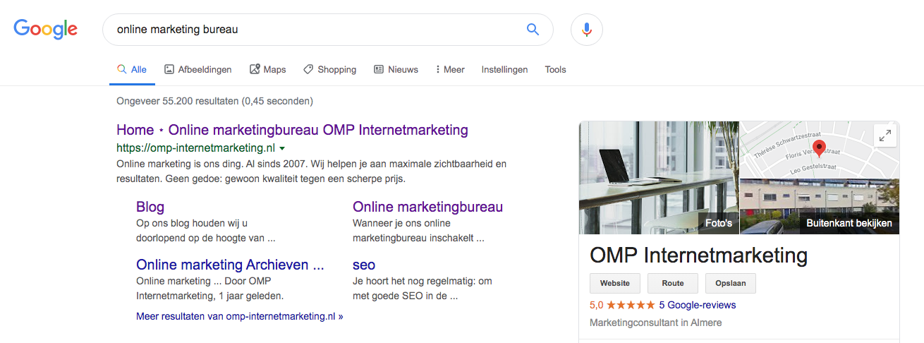 Je website op nummer 1 in Google
