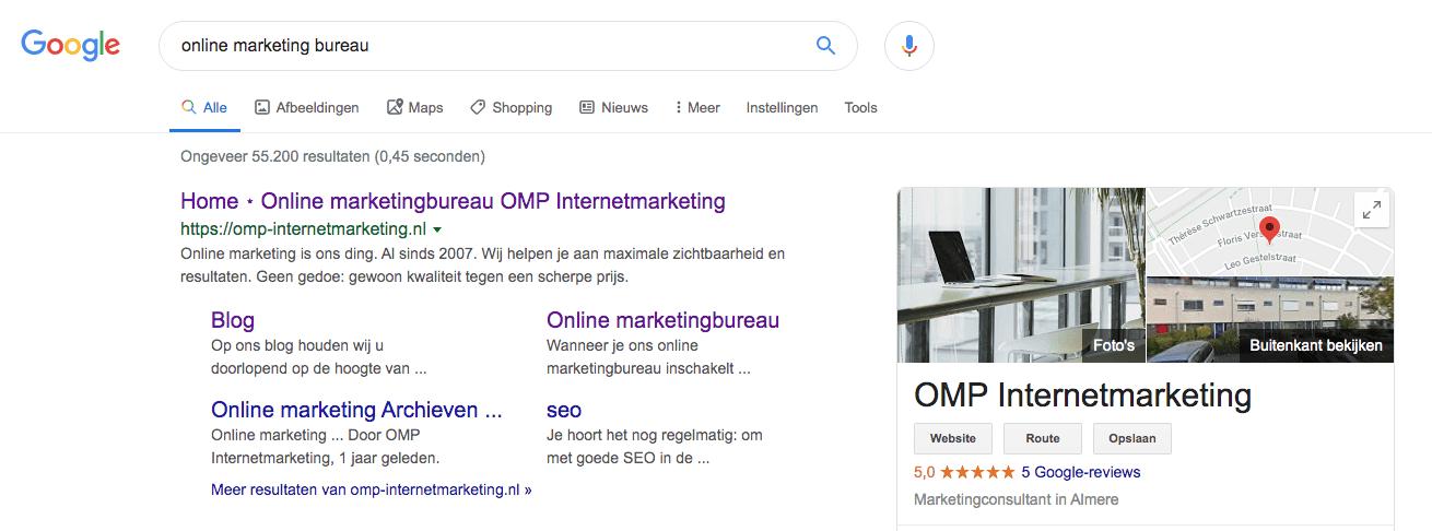 Je website op nummer 1 in Google